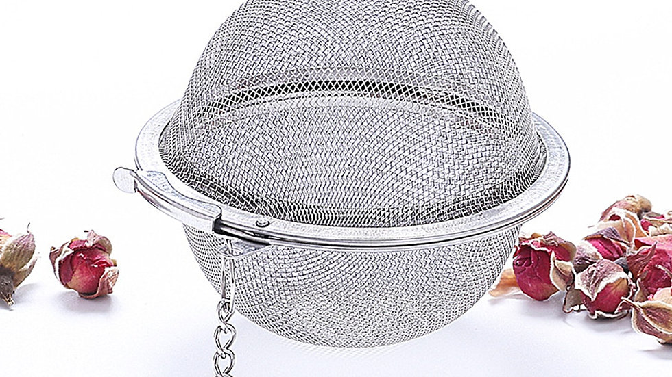 Stainless Steel Tea Infuser Mesh Reusable Tea Spice Hot Poner Tea Ball Strainer