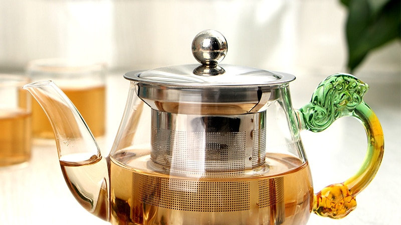 350ml Handmade Teapot With Filter Heat Resistant Glass Tea Pot Infuser