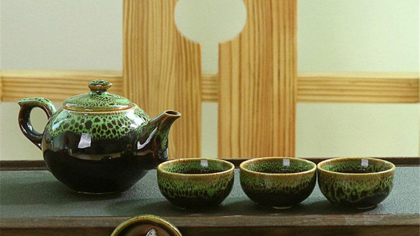 Chinese Ceramic Teapot 1 Set Tea Cup & Saucer Sets