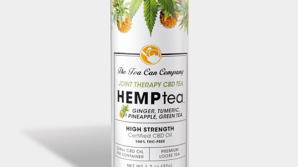 HEMPTEA™ Joint Therapy Ginger, Turmeric, Pineapple Loose Green (High Strength