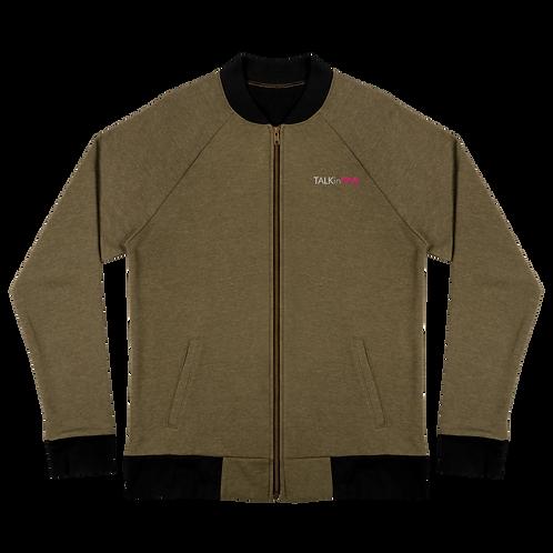 TALKinPINk Embroidery Bomber Jacket