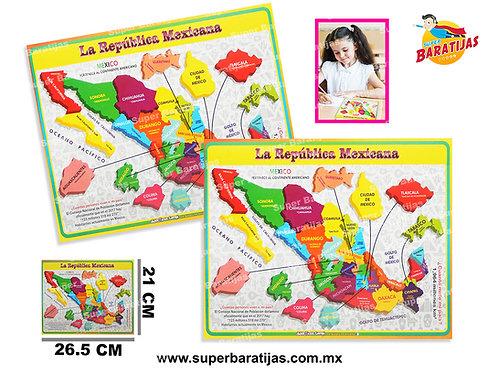 MAPA REPÚBLICA MEXICANA