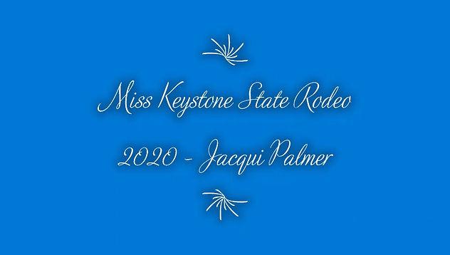 Miss Keystone State Rodeo 2020 - Jacqui Palmer