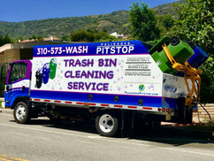 Palisades Pitstop Trash Bin Cleaning Truck