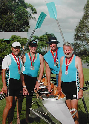 Murwillumbah rowing team return from a successful Pan Pacific Games (2004) - Steve Buster Johnson on left