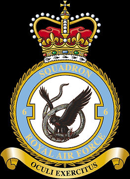 The current 6 Squadron emblem, the only RAF squadron emblem displaying its number
