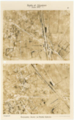 6 Squadron aerial photos of destructive shoot south-west of White Chateau, Hollebeke, taken by 6 Squadron before and after the Battle of Messines, 1917