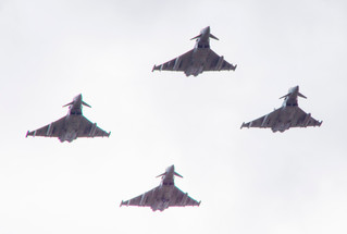 Typhoon Flypast for 6 Squadron 100th Birthday