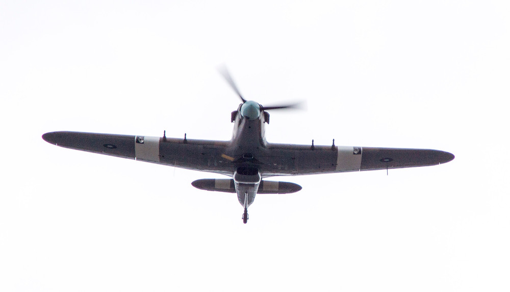 Hurricane 2d - flypast for 6 Squadron RAF centenary