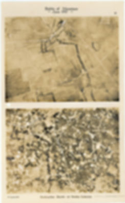 6 Squadron aerial photos of destructive shoot west of Zandvoorde, taken by 6 Squadron before and after the Battle of Messines, 1917