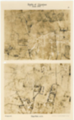 6 Squadron aerial photos of Denys Wood, taken by 6 Squadron before and after the Battle of Messines, 1917