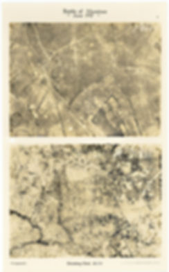 WW1 aerial photographs of Shrewsbury Forest (Groeneburgbos) before and after the Battle of Messines, 1917