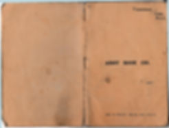 Front Cover of 1918 Wireless Notes, used by my grandfather when he was training men in the use of airborne wireless