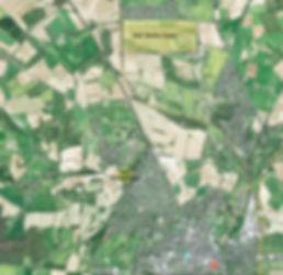 Location of RAF Flowerdown and RAF Worthy Down