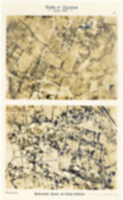 6 Squadron aerial photos of destructive shoot east of Hollebeke Village, taken by 6 Squadron one month before the Battle of Messines, 1917