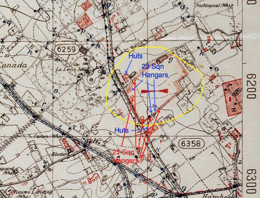 La Lovie aerodrome map 1918