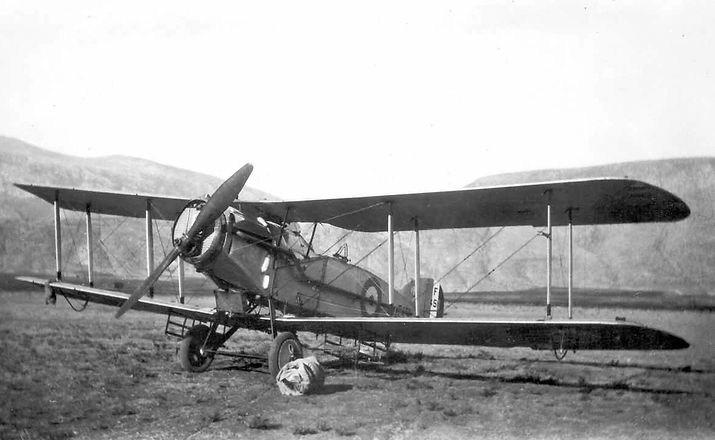 This is a Bristol FB2 Fighter on charge with 6 Squadron in Iraq, 1920