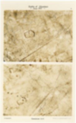 Aerial photos of Dammstrasse, east of St Eloi, taken by 6 Squadron RE8s before and after the Battle of Messines, 1917