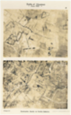 6 Squadron aerial photos of destructive shoot east of Neerwaastenstraat, taken by 6 Squadron shortly before the Battle of Messines, 1917