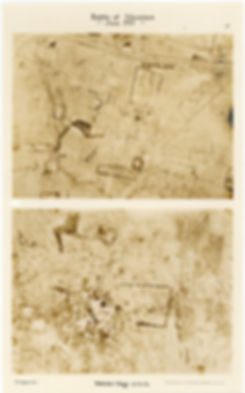 6 Squadron aerial photos of Hollebeke Village, taken by 6 Squadron before and after the Battle of Messines, 1917