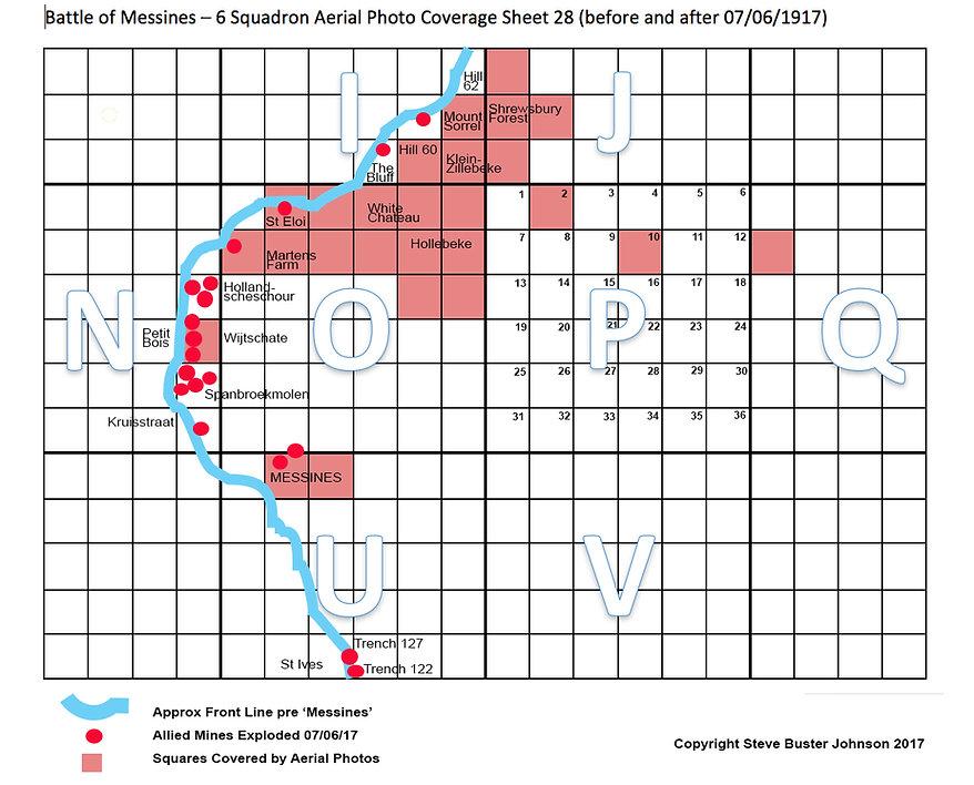 Battle of Messines aerial photo summary chart - Steve Buster Johnson