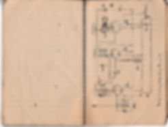Circuit diagram of a non radiating triple stage receiver, in use by the Royal Air Force during 1918