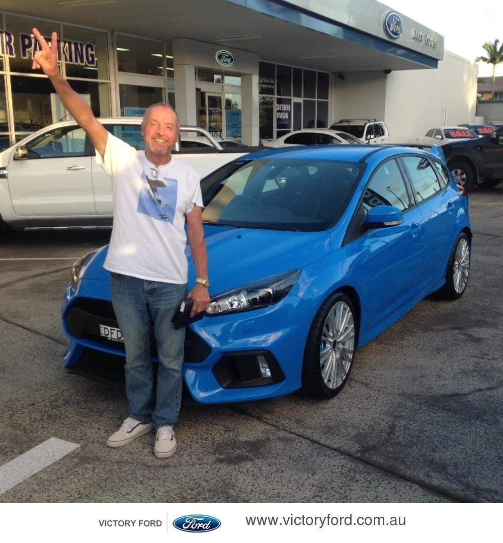 Steve Buster Johnson - Taking delivery of a Ford Focus RS