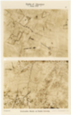 6 Squadron aerial photos of Komenseweg, taken by 6 Squadron before and after the Battle of Messines, 1917