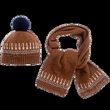 tutto-piccolo-brown-hat-scarf-set-330844