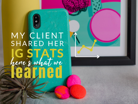 My Client Shared Her Instagram Stats.