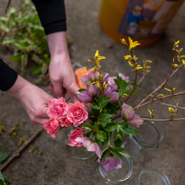 Bouquet Making Personal Branding Photography Session