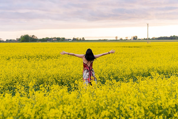 Liverpool Personal Brand Photographer in yellow rapeseed fields.