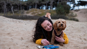 Liverpool Beach Brand Photoshoot with Cheshire Animal Artist