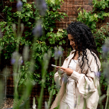 Checking emails during Personal Branding Photography Session in Liverpool