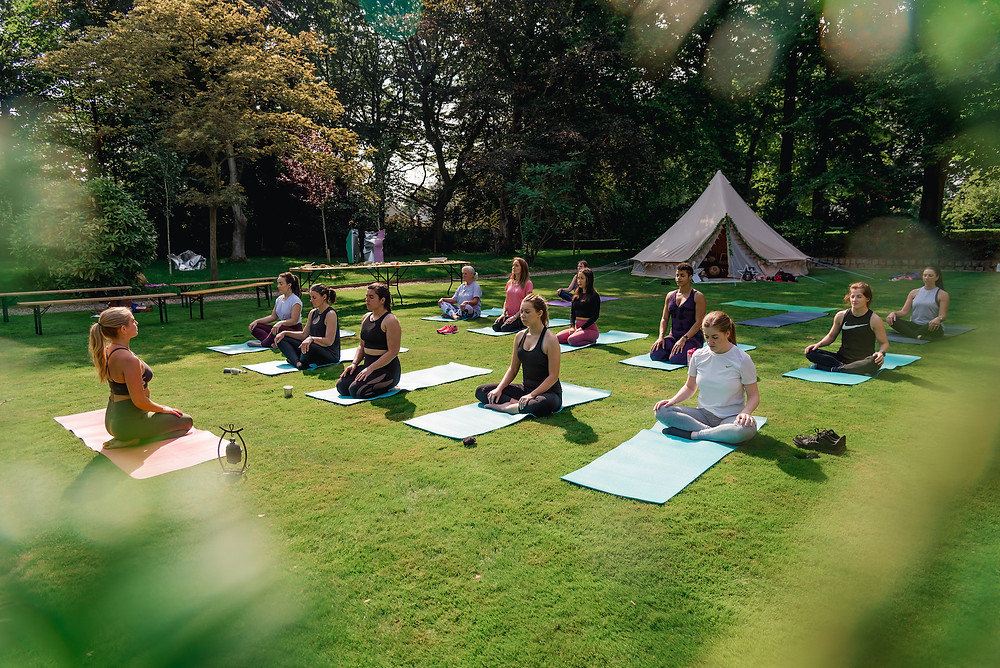 Breathing and Meditation with yoga class at Liverpool Personal Branding Photoshoot Event