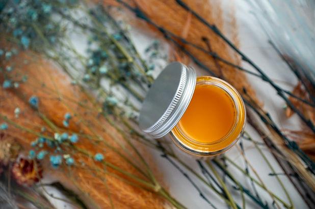 Vegan eco-friendly orange face serum made by Skyn Bakery.