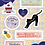 Thumbnail: ドリームパスポートセット ピンク/ブラック  Mサイズ