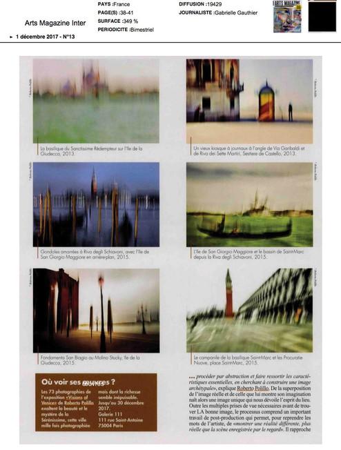arts magazine international Visions of Venice a Paris 3