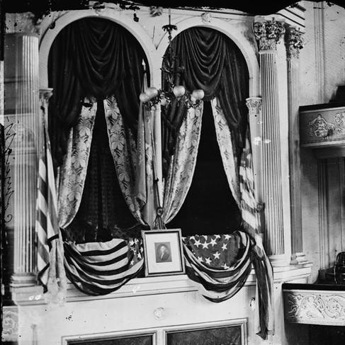 Il palco del Ford's Theater dove fu assassinato Lincoln