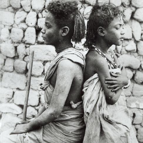 Ritratto di ragazzini, probabilmente giovani pastori