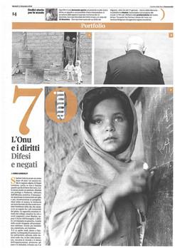 Corriere della Sera Buone Notizie 11 dic 2018 Human Rights