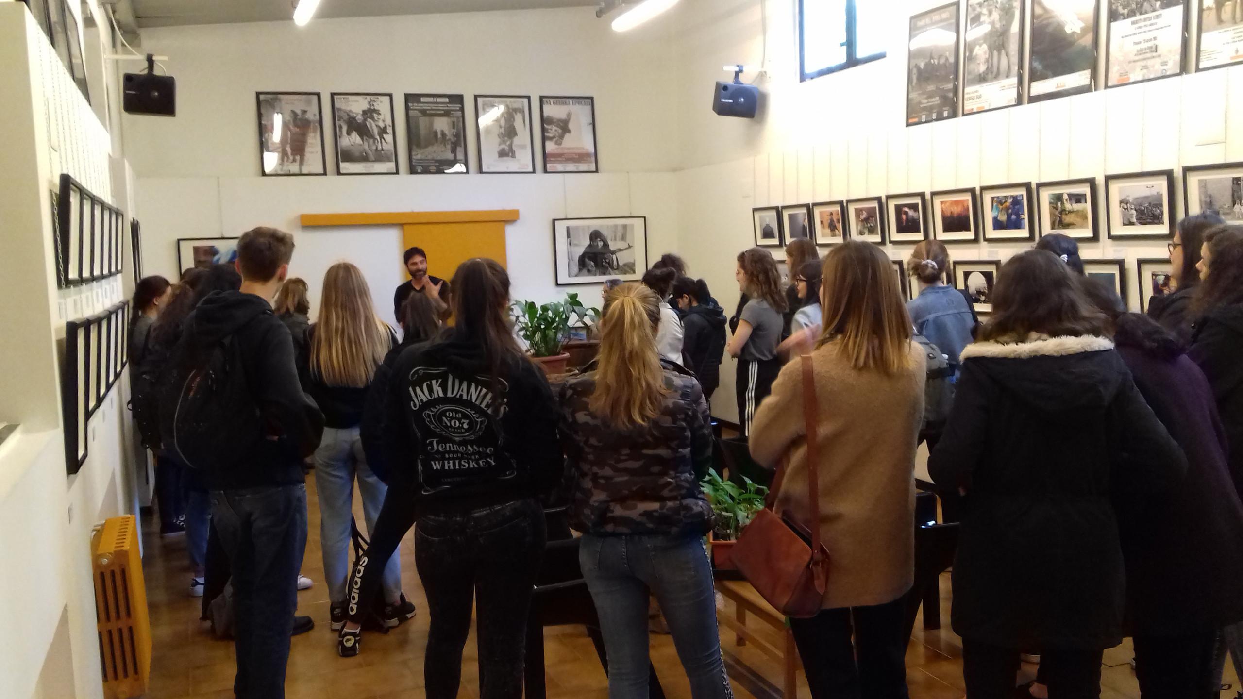 visita guidata con gli studenti del Liceo Virgilio di Milano