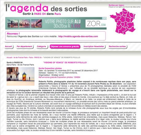 agenda des sorties_fr Visions of Venice a Paris