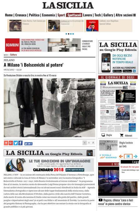 la Sicilia.it i Bolscevichi al potere