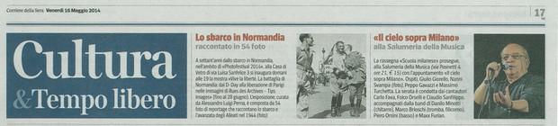 Corriere della Sera Milano 16 maggio 2014 Vlalib