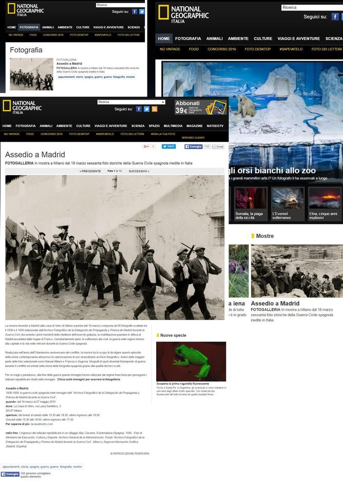 National Geographic.it parla della nostra mostra anche nella home page
