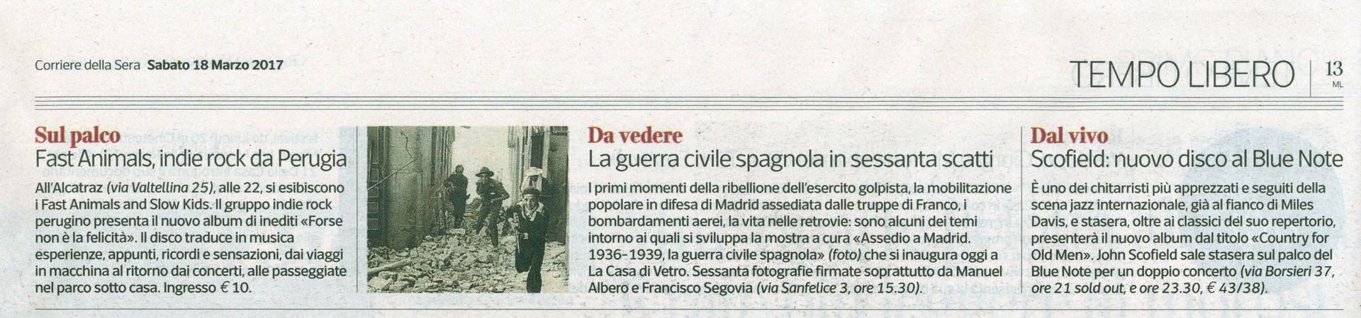 Corriere della Sera 18 marzo 2016 Madrid