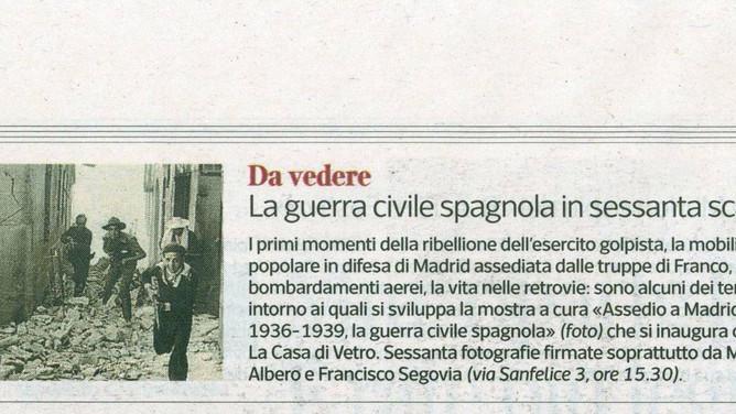 Corriere della Sera Milano segnala l'inaugurazione di oggi
