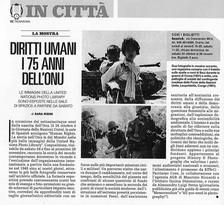 TrovaRoma di Repubblica segnala l'apertura della nostra mostra #HumanRights allo Spazio5 di Roma