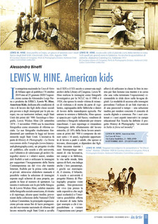 """InArte with a full page on our """"LEWIS HINE. AMERICAN KIDS"""" exhibition"""